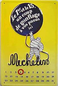 Michelin everlasting calendar embossed steel sign