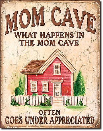 Mom Cave metal sign  (de)