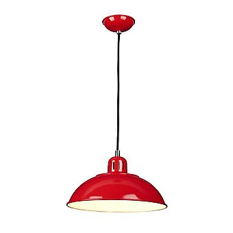 Elstead - 1 Light Pendant - Red - FRANKLIN/P RED