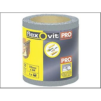 Flexovit Haute Performance de ponçage de finition rouleau 115 mm x 5 m 120 g