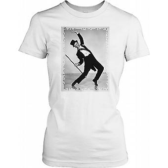 Fred Astaire Dancing in a Suit and Top Hat Ladies T Shirt