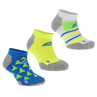 Skechers Boys Performance Divison Low Cut Socks Pack of 3 Junior Kids