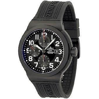 Zeno-watch reloj RAID titanio cronografo negro 6454TVD-bk-a1
