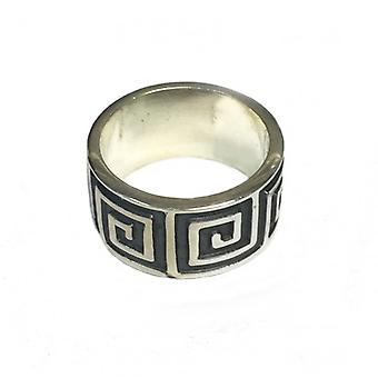 Cavendish French Silver Maze Ring