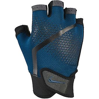 Nike Mens Extreme Fitness Gloves Blue Force Black Thunderstorm