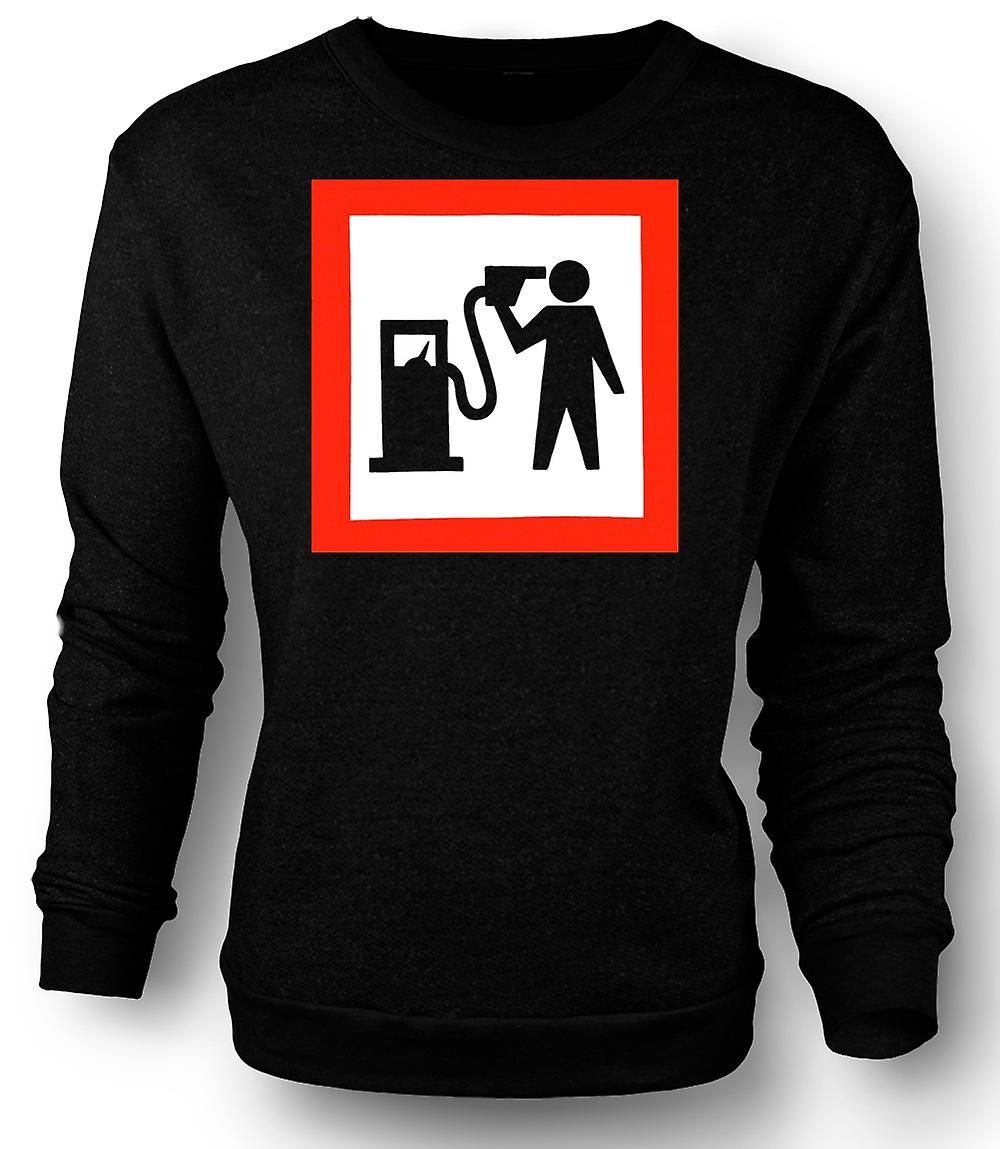 Mens Sweatshirt Petrol Head Love Motors