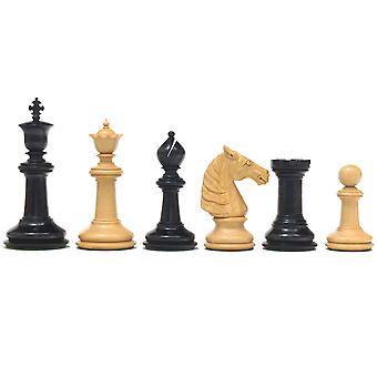 Classic Staunton Ebony Bath Series Chessmen  4.25 Inches
