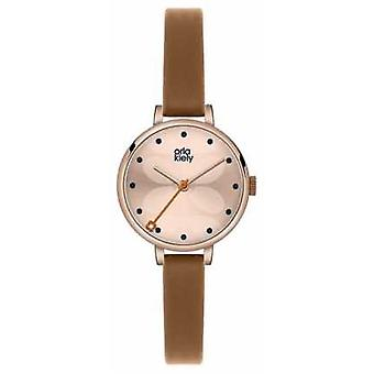Orla Kiely Ivy Brown Leather Strap OK2034 Watch