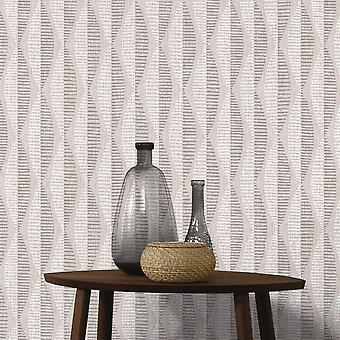 A.S. Creation AS Creation Abstract Leaf Pattern Wallpaper Geometric Stripe Motif Textured 304171