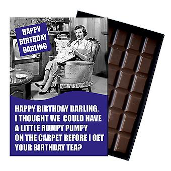 Funny Birthday Gift For Men Man boxed Chocolate Greeting Card Present for Him CDL212