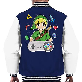 Lever Link Legend Of Zelda Men's Varsity Jacket