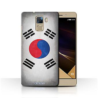 STUFF4 Case/Cover for Huawei Honor 7/Korea/Korean/Flags