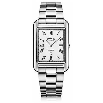 Rotary   Gents Stainless Steel Bracelet   White Dial   GB05280/01 Watch