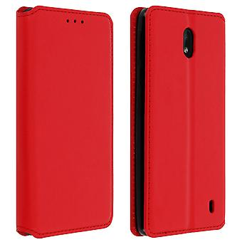 Slim Case, Classic Edition stand case with card slot for Nokia 1 Plus - Red
