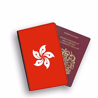 HONG KONG Flag Passport Holder Style Case Cover Protective Wallet Flags design