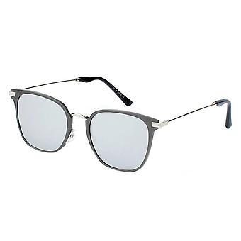 Cambridge | a22 - pillowed rectangle flat lens horned rim sunglasses