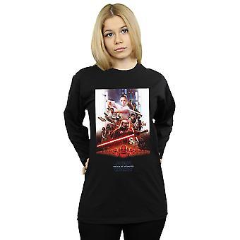 Star Wars The Rise Of Skywalker Poster Long Sleeved T-Shirt Women's Boyfriend Fit