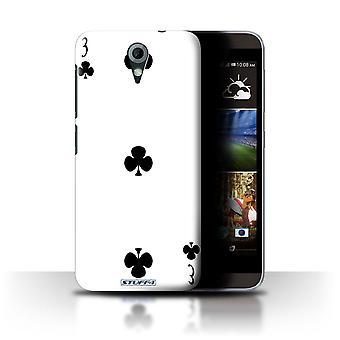 STUFF4 Case/Cover for HTC Desire 820 Mini/3 of Clubs/Playing Cards