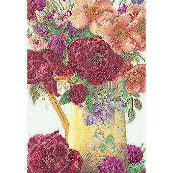 Rose Bouquet On Aida Counted Cross Stitch Kit 9 1 2