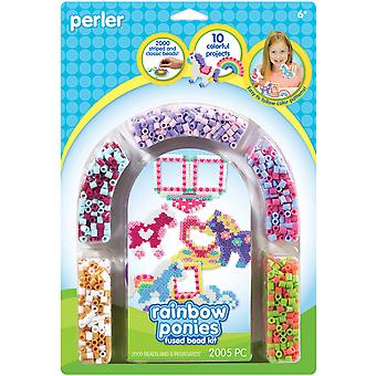 Perler Fun Fusion Fuse Bead Activity Kit Regenbogen Pony Rahmen 80 55995