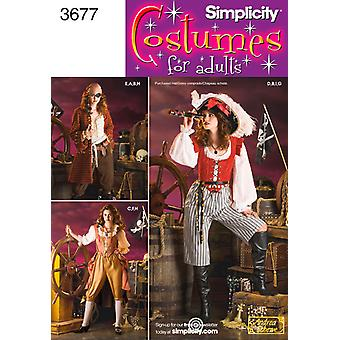 Simplicity Misses Pirate Costumes 14,16,18,20 U03677rr