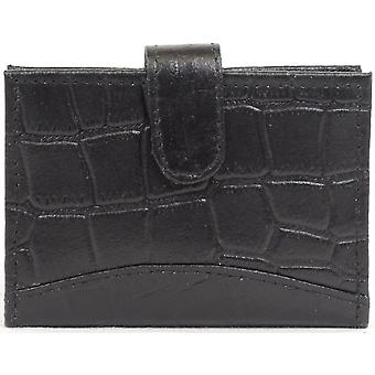 Mens Leather Crocodile Effect Credit Card / Travel Card / ID Holder / Wallet