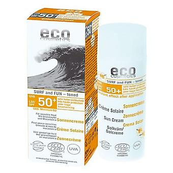 Eco Cosmetics Sunscreen SPF 50, 50Ml Surf Color
