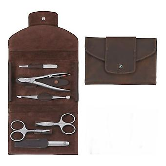 Zwilling Zippered case, Skin Legitima, Brown, 6 Pieces