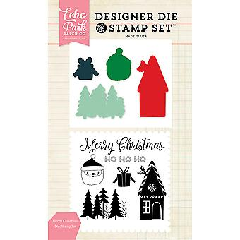 Echo Park Die & Stamp Combo Set-Merry Christmas EPDIST50