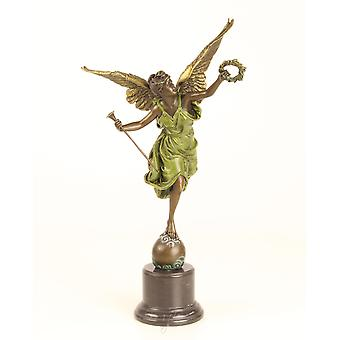 bronce sculpture figur figurine winged victory