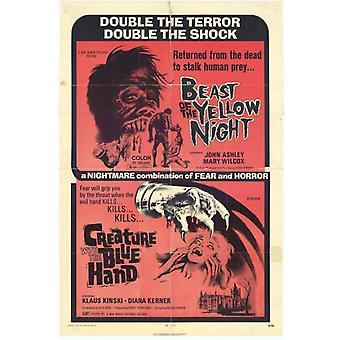 Bestia di giallo NightCreature blu mano Movie Poster stampa (27 x 40)
