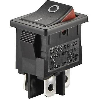 Toggle switch 250 Vac 6 A 2 x Off/On SCI R13-73A2-02 latch 1 pc(s)