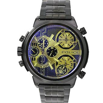 Police mens watch wristwatch stainless steel analog PL. 13595JSB/61MA