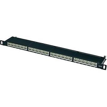 24 ports Network patch panel Digitus Professional DN-91624S-SL-SH CAT 6 0.5 U