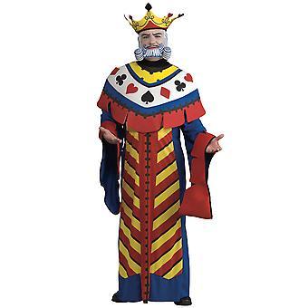 Speelkaart koning Alice in Wonderland Poker Deluxe boek Week Mens kostuum