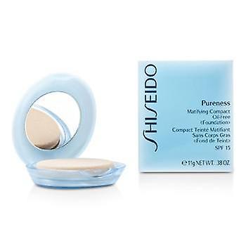 Shiseido Pureness opacizzante Compact Oil Free Foundation SPF15 (Case + ricarica) - # 30 Naturale Avorio - 11g / 0,38 once