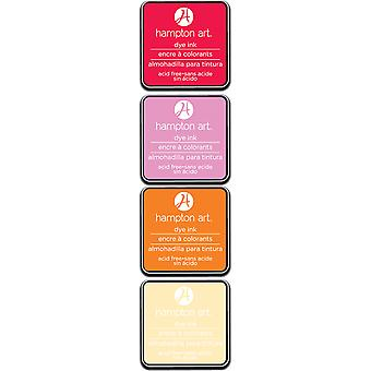 Hampton Art Dye Ink Pads 4 Colors-Sunset SP0116
