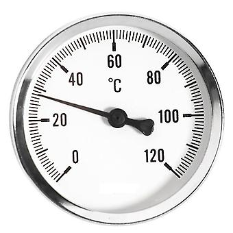 0-120C Thermo Temperature Gauge 1/2inch Rear Entry Thermometer
