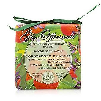 Nesti Dante Gli Officinali Soap - Fruit Of The Strawberry Bush & Sage - Vitaminic & Refreshing - 200g/7oz