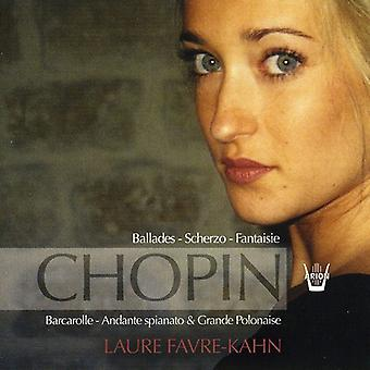 Laure Favre-Kahn - Chopin: Balladen-Scherzo-Fantaisie [CD] USA import