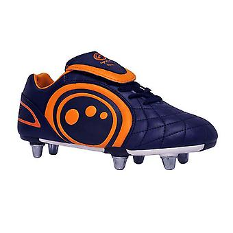 OPTIMUM eclipse rugby boot junior [navy/orange]
