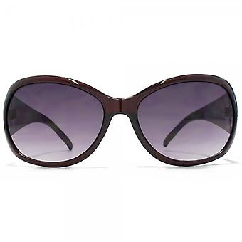 Glare Eyewear Mila Sunglasses In Brown Snakeskin Temple
