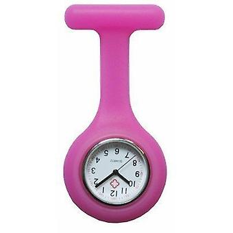 Brand New Fashion siliconen verpleegkundigen broche tuniek Fob Watch door Boolavard TM. (7 - roze)