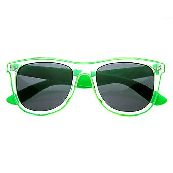 Candy Colorful Jolly Rancher Raver Rolling Transparent Horn Rimmed Sunglasses