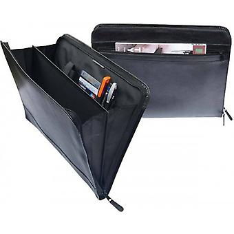 San Babila Leather Gusset Folio  - Black