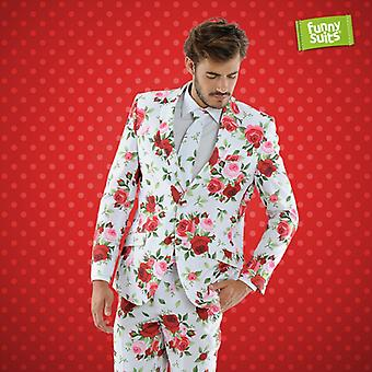 Senator Armin Rosen suit suit flower pattern 3-piece costume deluxe EU SIZES
