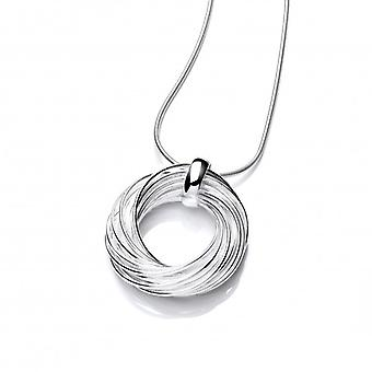 "Cavendish French Sterling Silver Willow Wreath Pendant with 18 - 20"" Silver Chain"