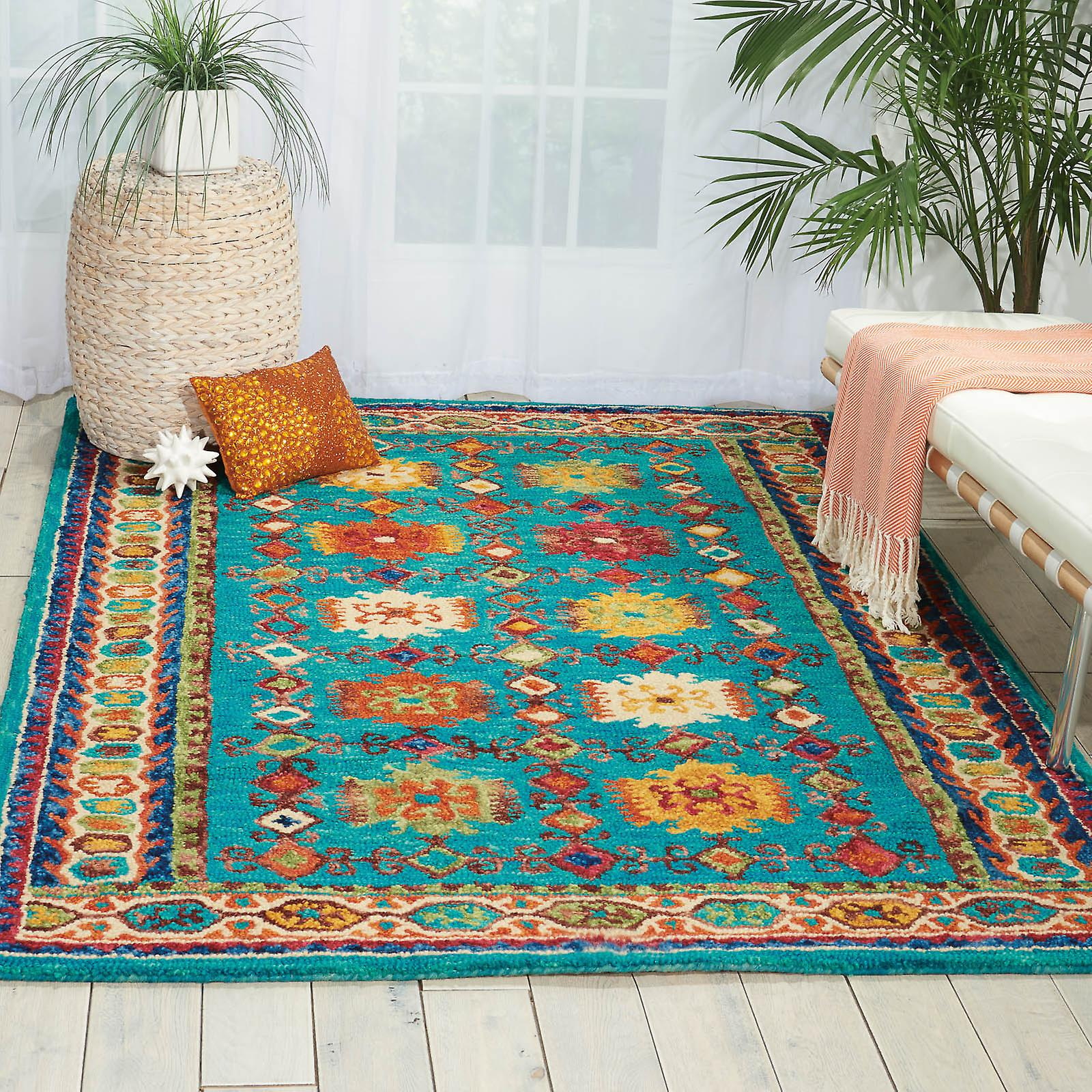 Vibrant Rugs Vib09 In Teal By Nourison