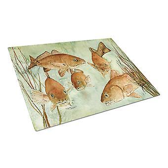 キャロラインズ宝物 8983LCB 赤魚泳ぐガラス カッティング ボード大