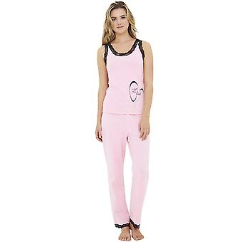 A Gift from the Gods LS001P Women's Pink Pajama Pyjama Set